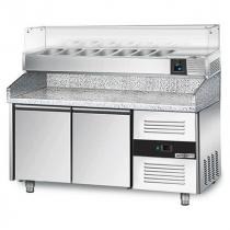 Холодильний стіл для піци 390 л з вітриною