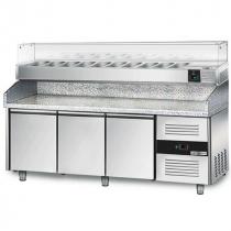 Холодильний стіл для піци 590 л з вітриною