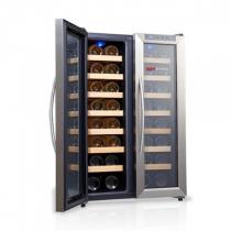 Винний холодильник з двома дверима 100 л