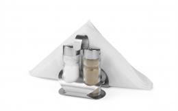 Набір для спецій з 3 частин (сіль, перець, серветниця)