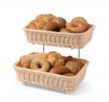 Кошик для хліба і булочок GN 1/2, 2 шт з хромованим стеллажем