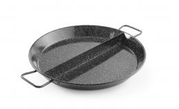Емальована сковорода для паельї - 2 відсіка